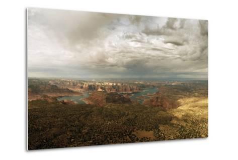 A View of Lake Powell from the Kaiparowits Plateau-Macduff Everton-Metal Print