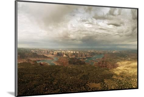 A View of Lake Powell from the Kaiparowits Plateau-Macduff Everton-Mounted Photographic Print