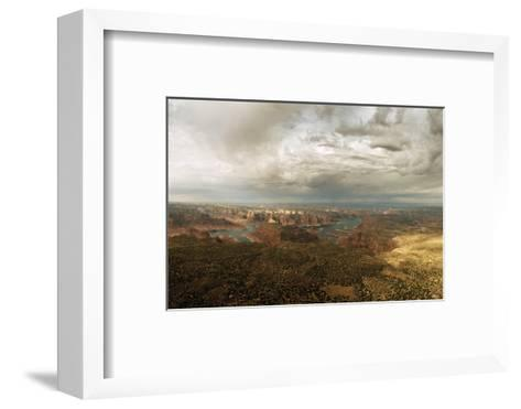 A View of Lake Powell from the Kaiparowits Plateau-Macduff Everton-Framed Art Print