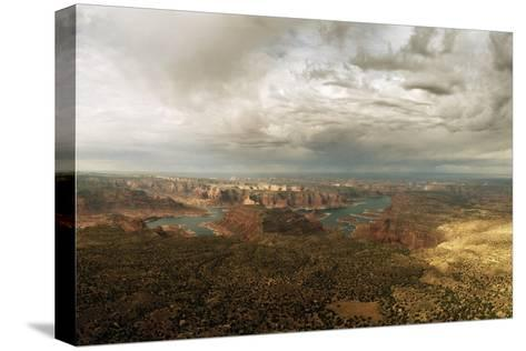 A View of Lake Powell from the Kaiparowits Plateau-Macduff Everton-Stretched Canvas Print
