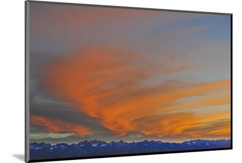Sunset over the Palisade Region of the Eastern Sierra Nevada, Above the Owens Valley-Gordon Wiltsie-Mounted Photographic Print