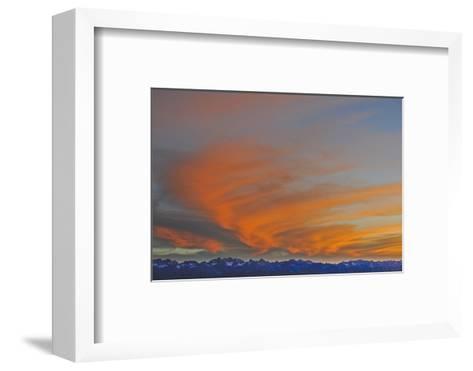 Sunset over the Palisade Region of the Eastern Sierra Nevada, Above the Owens Valley-Gordon Wiltsie-Framed Art Print