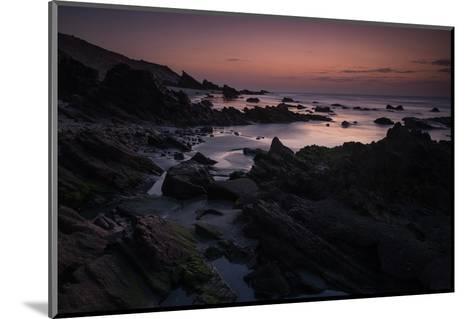 Dusk over the Rocks in Jericoacoara, Brazil-Alex Saberi-Mounted Photographic Print