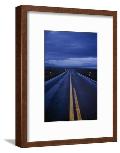 A Well Marked Road Leading to Thingvellir and Lake Thingvallavatn-Macduff Everton-Framed Art Print