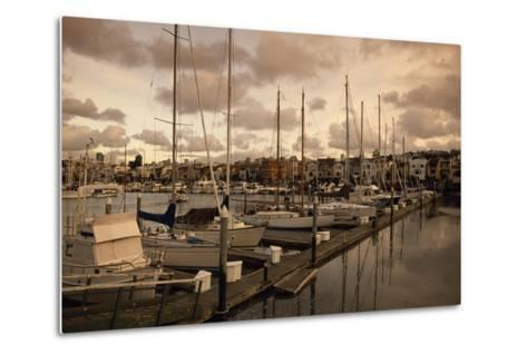 Late Afternoon with Boats at the Dock at St. Francis Yacht Club Near the Presidio-Macduff Everton-Metal Print
