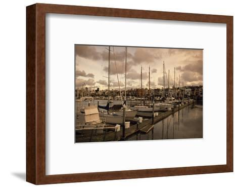 Late Afternoon with Boats at the Dock at St. Francis Yacht Club Near the Presidio-Macduff Everton-Framed Art Print