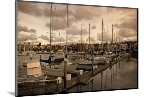 Late Afternoon with Boats at the Dock at St. Francis Yacht Club Near the Presidio-Macduff Everton-Mounted Photographic Print