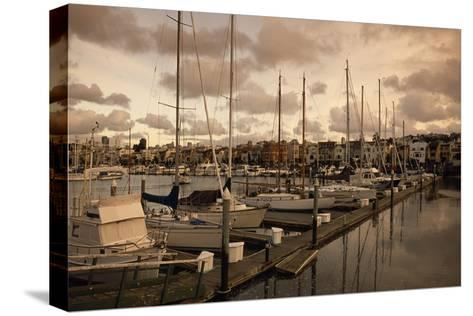 Late Afternoon with Boats at the Dock at St. Francis Yacht Club Near the Presidio-Macduff Everton-Stretched Canvas Print