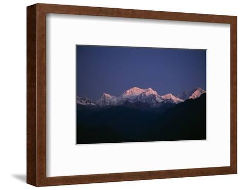 Sunrise on Kabru, Center, and Kanchenjunga, Right, the World's 3rd Highest Mountain-Macduff Everton-Framed Art Print