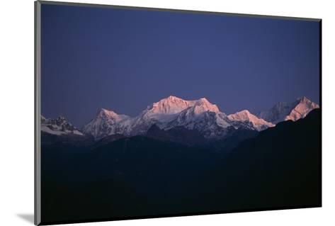 Sunrise on Kabru, Center, and Kanchenjunga, Right, the World's 3rd Highest Mountain-Macduff Everton-Mounted Photographic Print