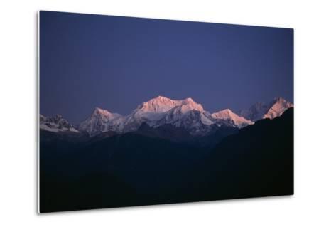Sunrise on Kabru, Center, and Kanchenjunga, Right, the World's 3rd Highest Mountain-Macduff Everton-Metal Print