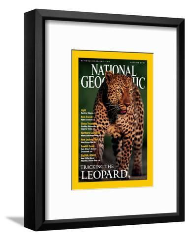 Cover of the October, 2001 National Geographic Magazine-Kim Wolhuter-Framed Art Print