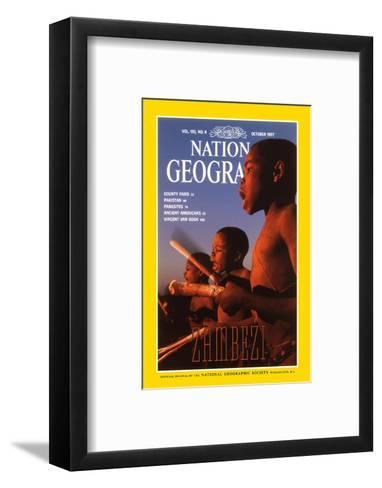 Cover of the October, 1997 National Geographic Magazine-Chris Johns-Framed Art Print