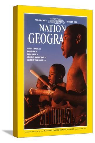 Cover of the October, 1997 National Geographic Magazine-Chris Johns-Stretched Canvas Print