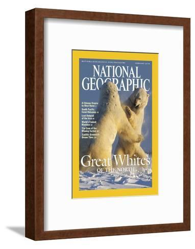 Cover of the February, 2004 National Geographic Magazine-Norbert Rosing-Framed Art Print