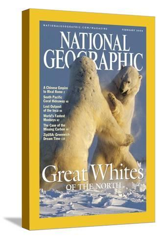 Cover of the February, 2004 National Geographic Magazine-Norbert Rosing-Stretched Canvas Print