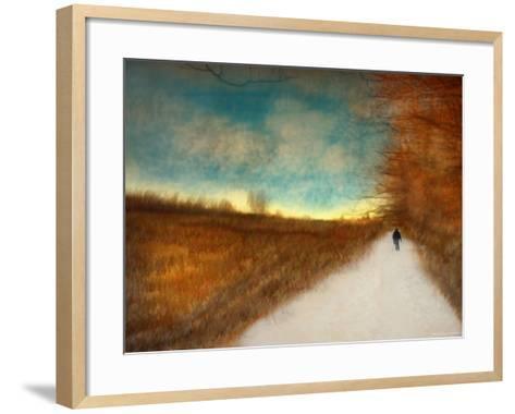 Lonely Autumn Path-Robert Cattan-Framed Art Print