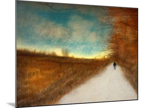 Lonely Autumn Path-Robert Cattan-Mounted Photographic Print