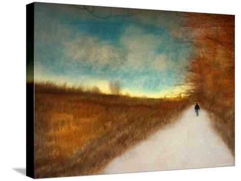 Lonely Autumn Path-Robert Cattan-Stretched Canvas Print