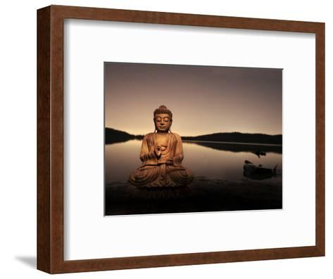 Golden Buddha Lakeside-Jan Lakey-Framed Art Print