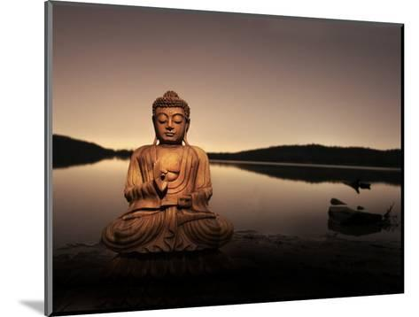 Golden Buddha Lakeside-Jan Lakey-Mounted Photographic Print