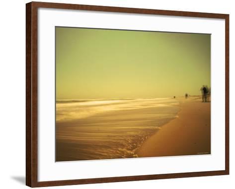 Golden Beach Landscape-Jan Lakey-Framed Art Print