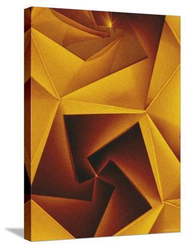 Golden Geometric Pentagons-Tim Kahane-Stretched Canvas Print