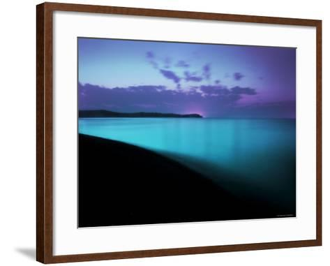 Glowing Turquoise Blue Waters-Jan Lakey-Framed Art Print