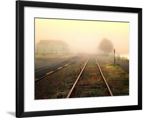 Foggy on the Tracks-Jody Miller-Framed Art Print