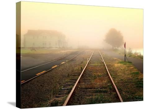 Foggy on the Tracks-Jody Miller-Stretched Canvas Print