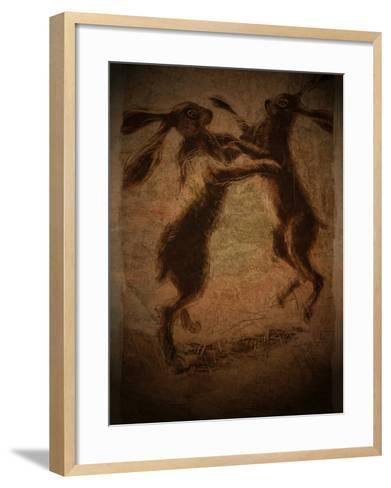 Hare Boxing-Tim Kahane-Framed Art Print
