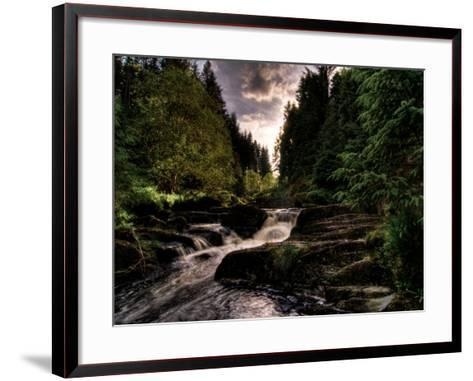 Waterfall, River Severn, Hafren Forest, Wales-Clive Nolan-Framed Art Print