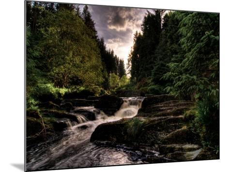 Waterfall, River Severn, Hafren Forest, Wales-Clive Nolan-Mounted Photographic Print