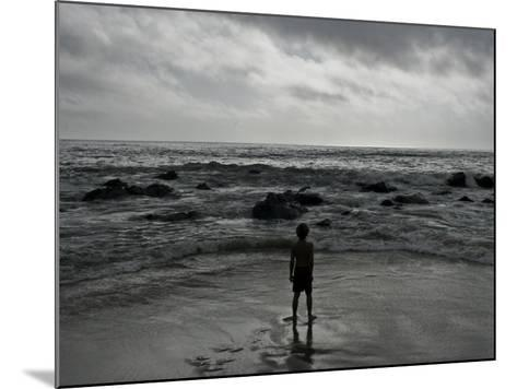 Child Standing at the Edge of Tide-Krzysztof Rost-Mounted Photographic Print