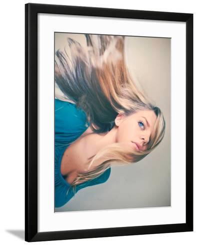 A Small Turn-Maren Slay-Framed Art Print