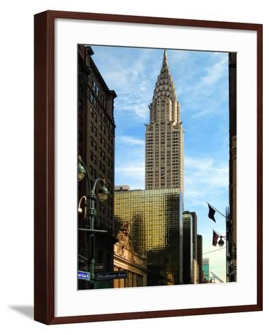 Chrysler Building and Madison Avenue, Manhattan, New York City-Sabine Jacobs-Framed Art Print