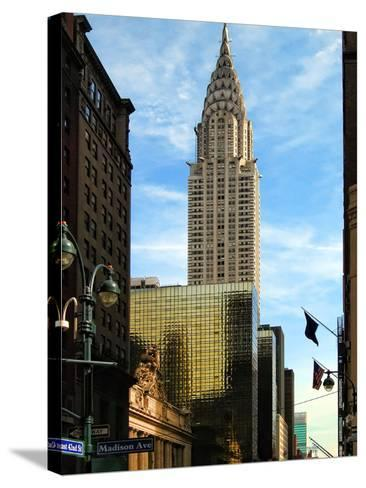 Chrysler Building and Madison Avenue, Manhattan, New York City-Sabine Jacobs-Stretched Canvas Print