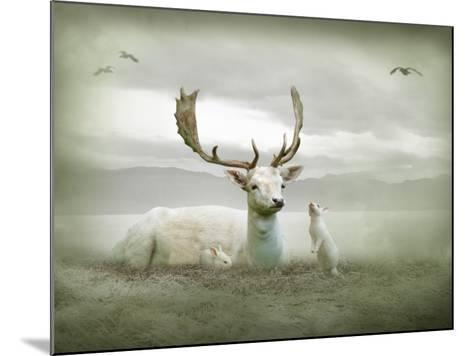 The White Stag-Lynne Davies-Mounted Photographic Print