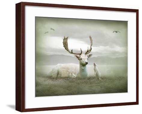 The White Stag-Lynne Davies-Framed Art Print
