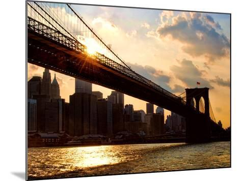 Brooklyn Bridge and Skyline, Manhattan, New York City-Sabine Jacobs-Mounted Photographic Print