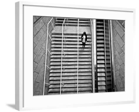 Up Ad Down-Sharon Wish-Framed Art Print
