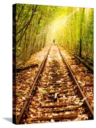 Light at the End of the Line-Nathan Wright-Stretched Canvas Print
