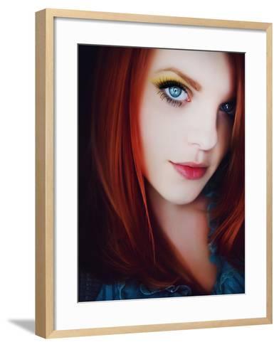 Some Red-Maren Slay-Framed Art Print