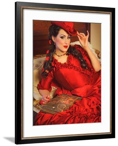 Lady in Red-Winter Wolf Studios-Framed Art Print