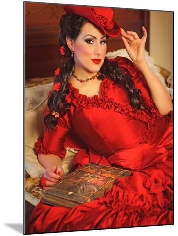 Lady in Red-Winter Wolf Studios-Mounted Photographic Print