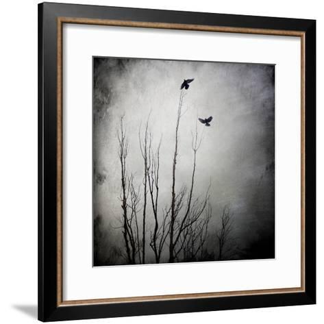 Two Bird Flying Near a Tree-Luis Beltran-Framed Art Print