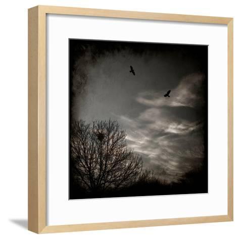Two Birds Retum to Nest at Dusk-Luis Beltran-Framed Art Print