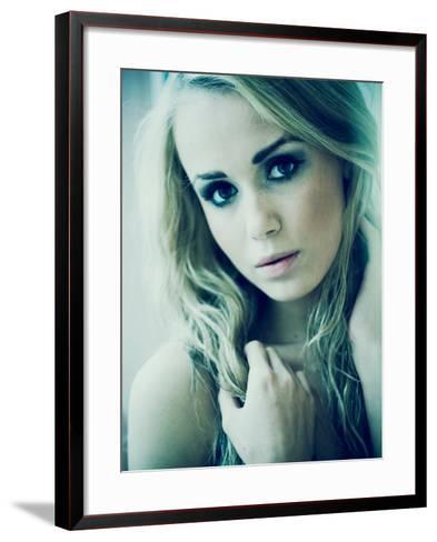 Blonde Girl-Anna Mutwil-Framed Art Print