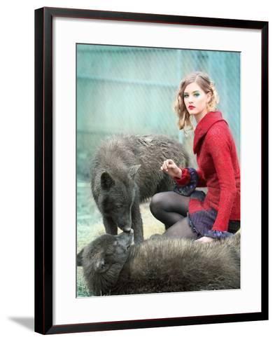 Red-Winter Wolf Studios-Framed Art Print