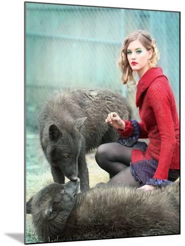 Red-Winter Wolf Studios-Mounted Photographic Print